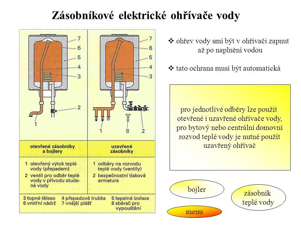 Zásobníkové elektrické ohřívače vody