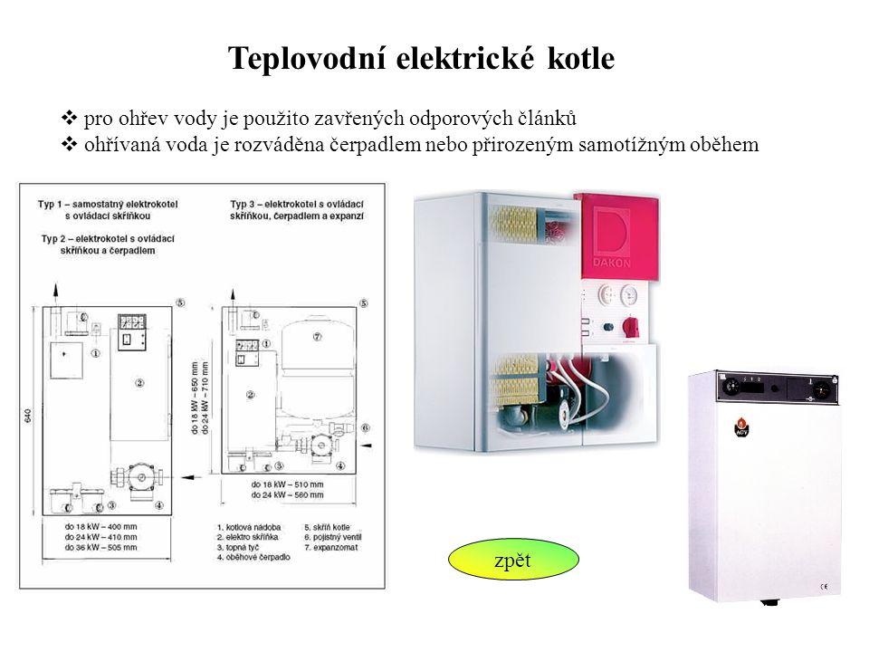 Teplovodní elektrické kotle