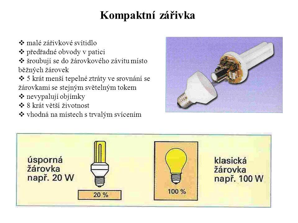 Kompaktní zářivka malé zářivkové svítidlo předřadné obvody v patici