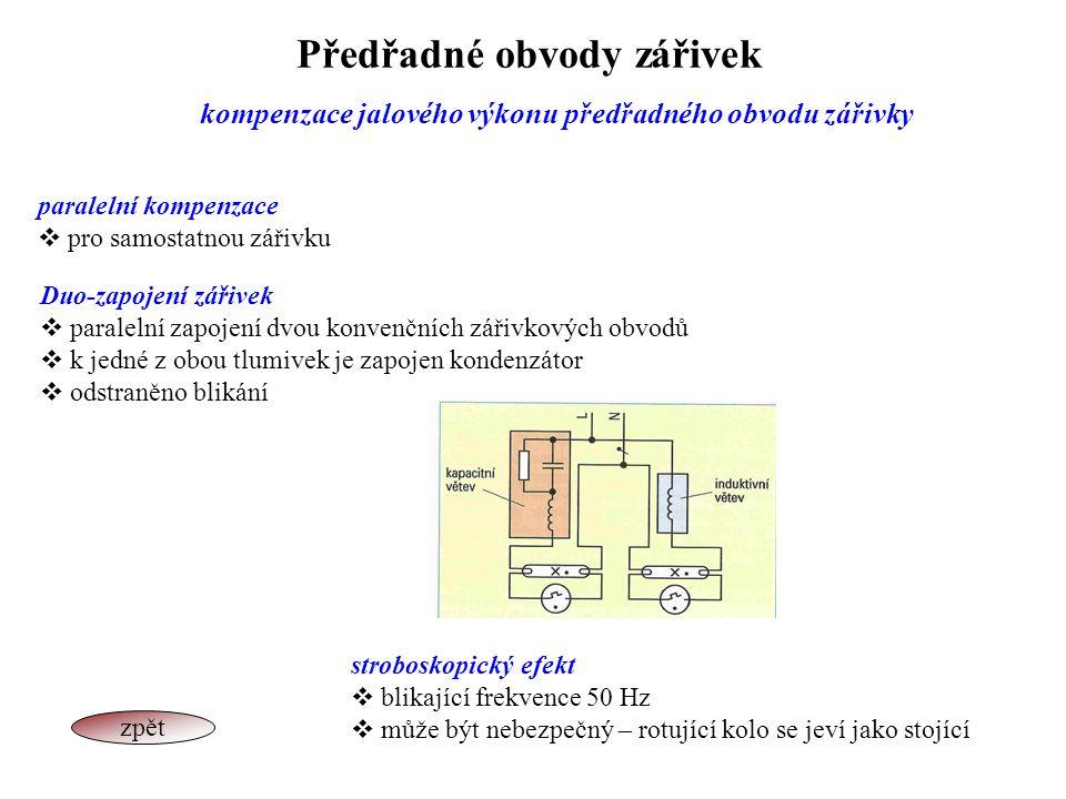 Předřadné obvody zářivek