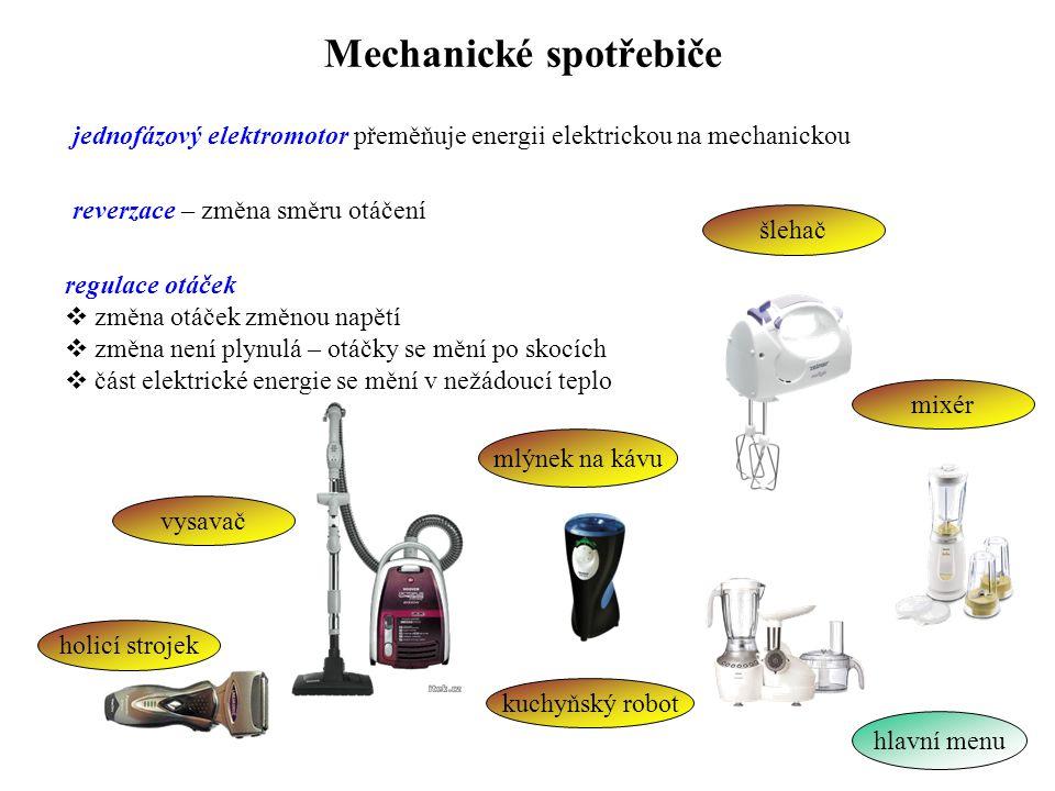 Mechanické spotřebiče