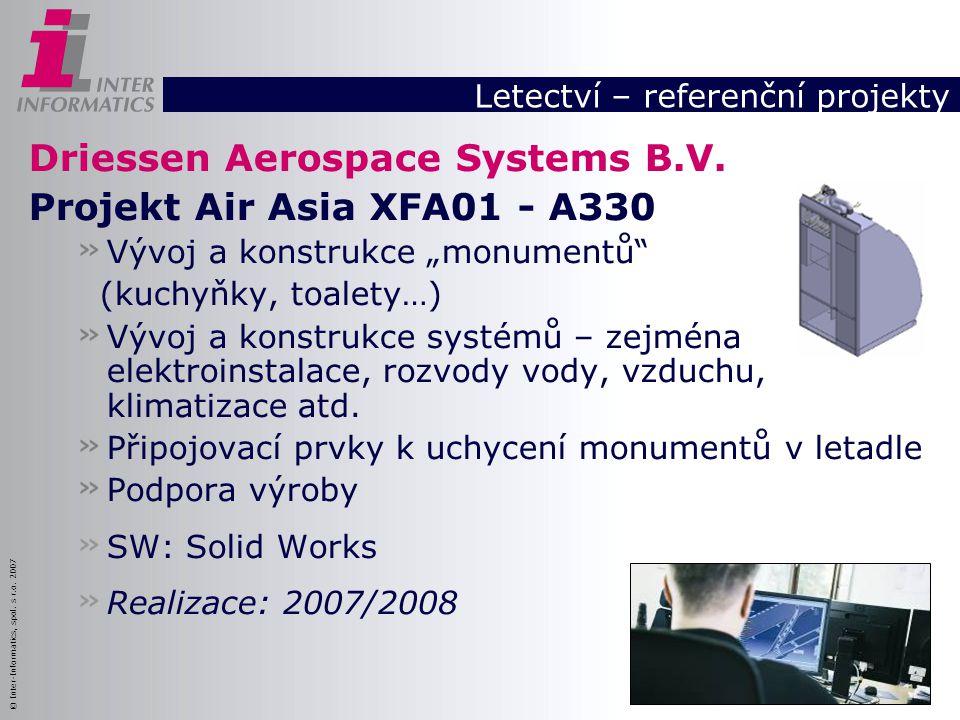 Letectví – referenční projekty
