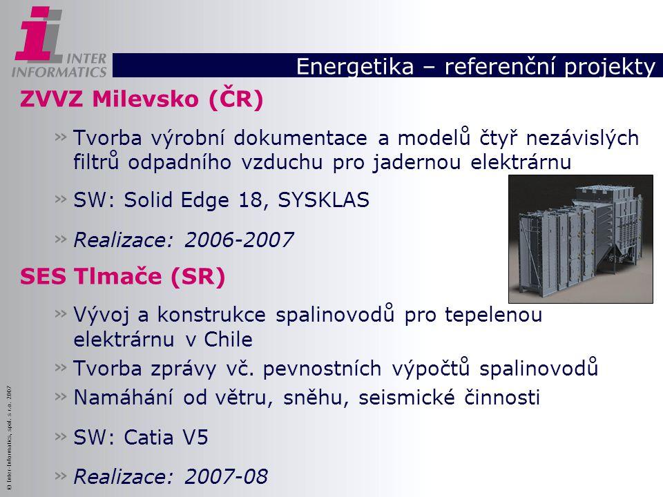 Energetika – referenční projekty