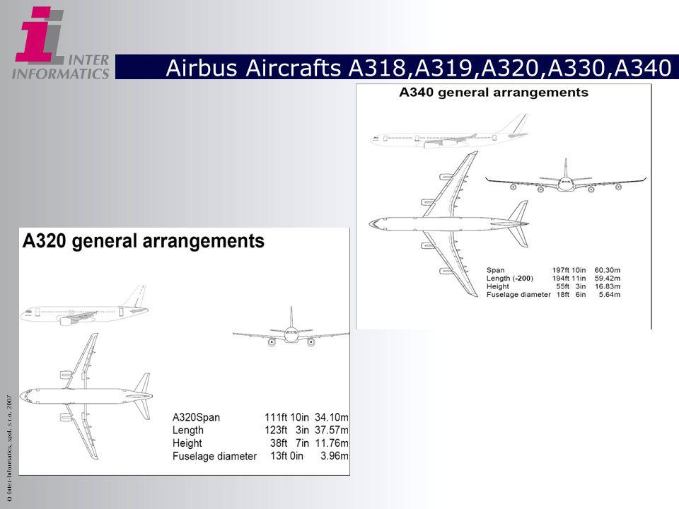 Airbus Aircrafts A318,A319,A320,A330,A340