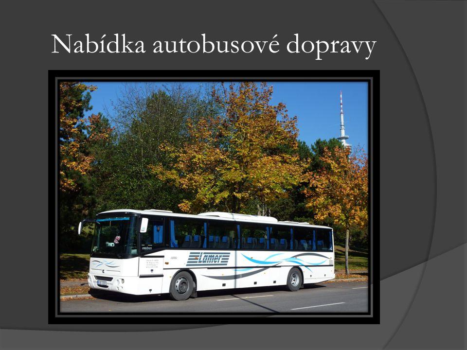 Nabídka autobusové dopravy