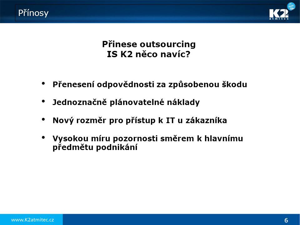 Přinese outsourcing IS K2 něco navíc