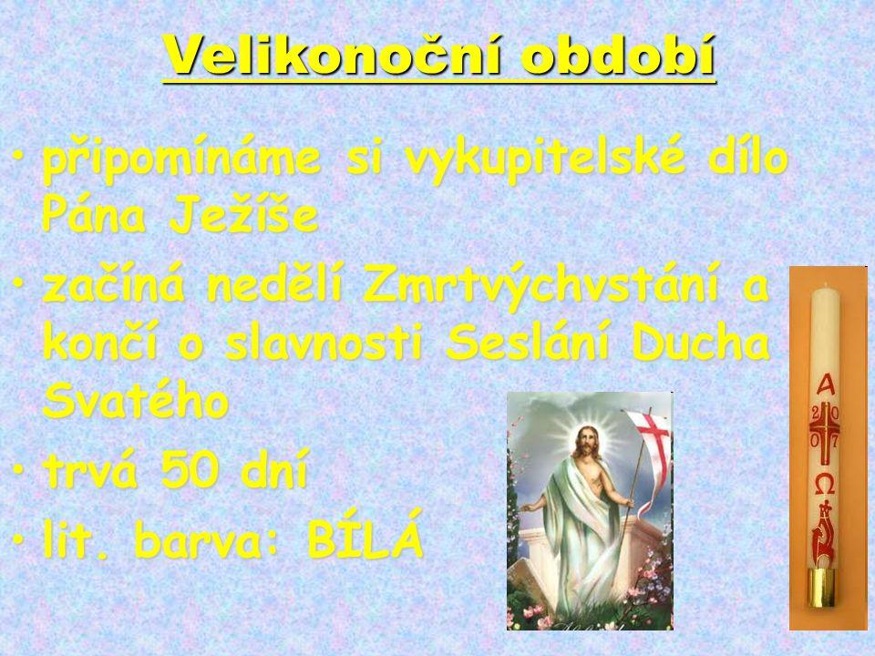Velikonoční období připomínáme si vykupitelské dílo Pána Ježíše