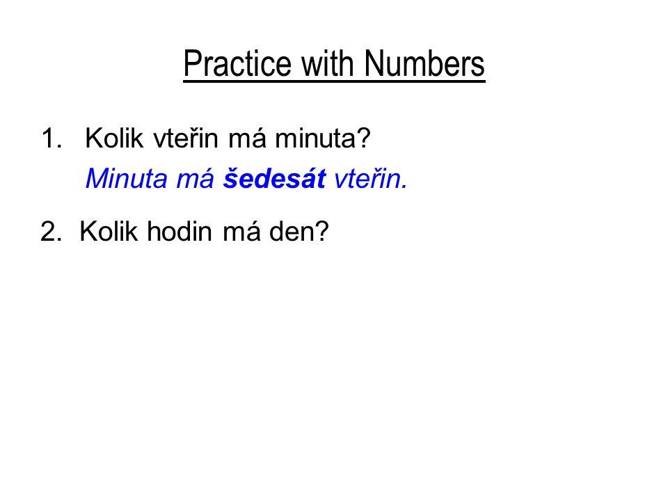 Practice with Numbers Kolik vteřin má minuta