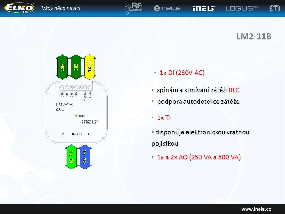 LM2-11B 1x DI (230V AC) spínání a stmívání zátěží RLC