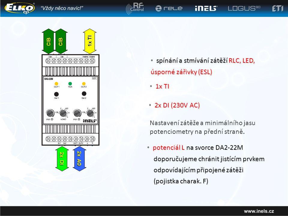 spínání a stmívání zátěží RLC, LED, úsporné zářivky (ESL)