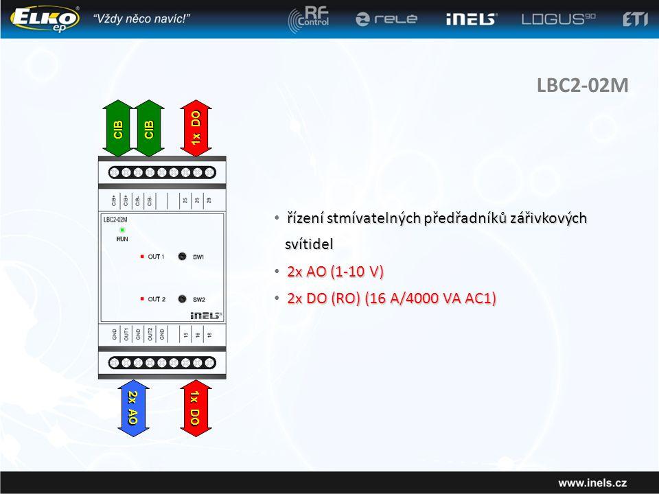 LBC2-02M řízení stmívatelných předřadníků zářivkových svítidel