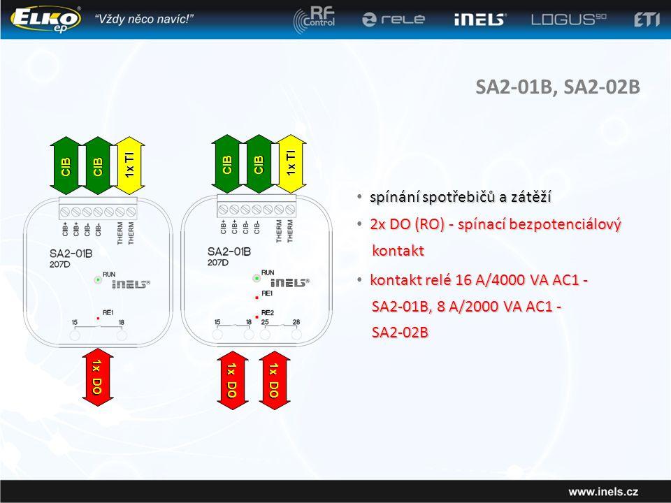 SA2-01B, SA2-02B spínání spotřebičů a zátěží