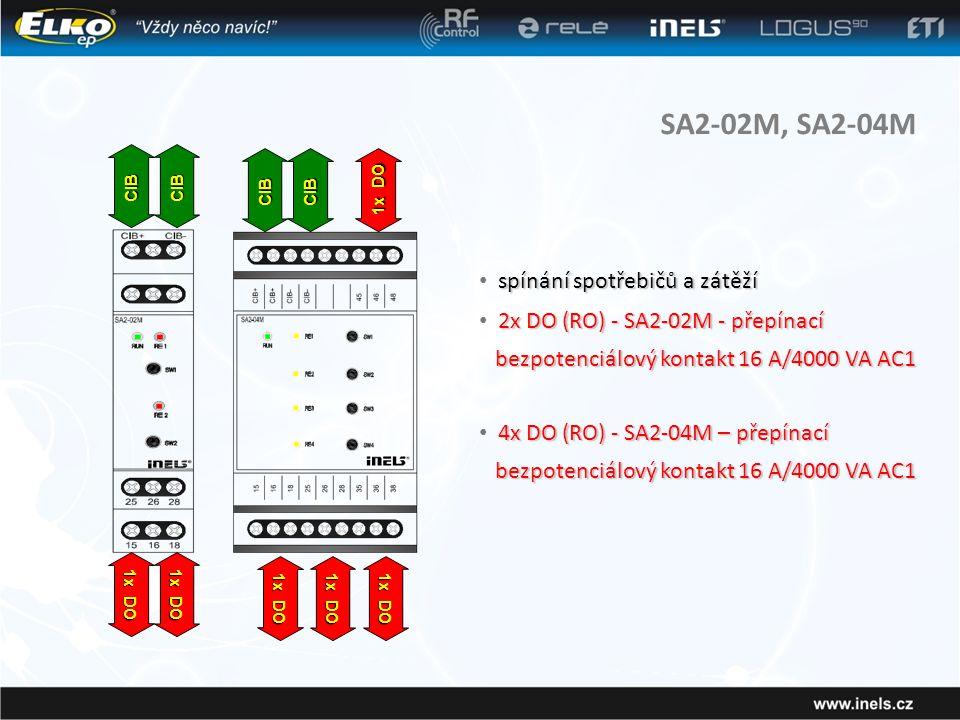 SA2-02M, SA2-04M spínání spotřebičů a zátěží