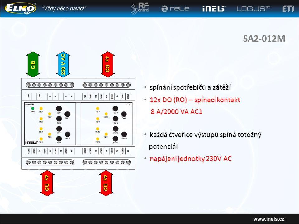 SA2-012M spínání spotřebičů a zátěží 12x DO (RO) – spínací kontakt