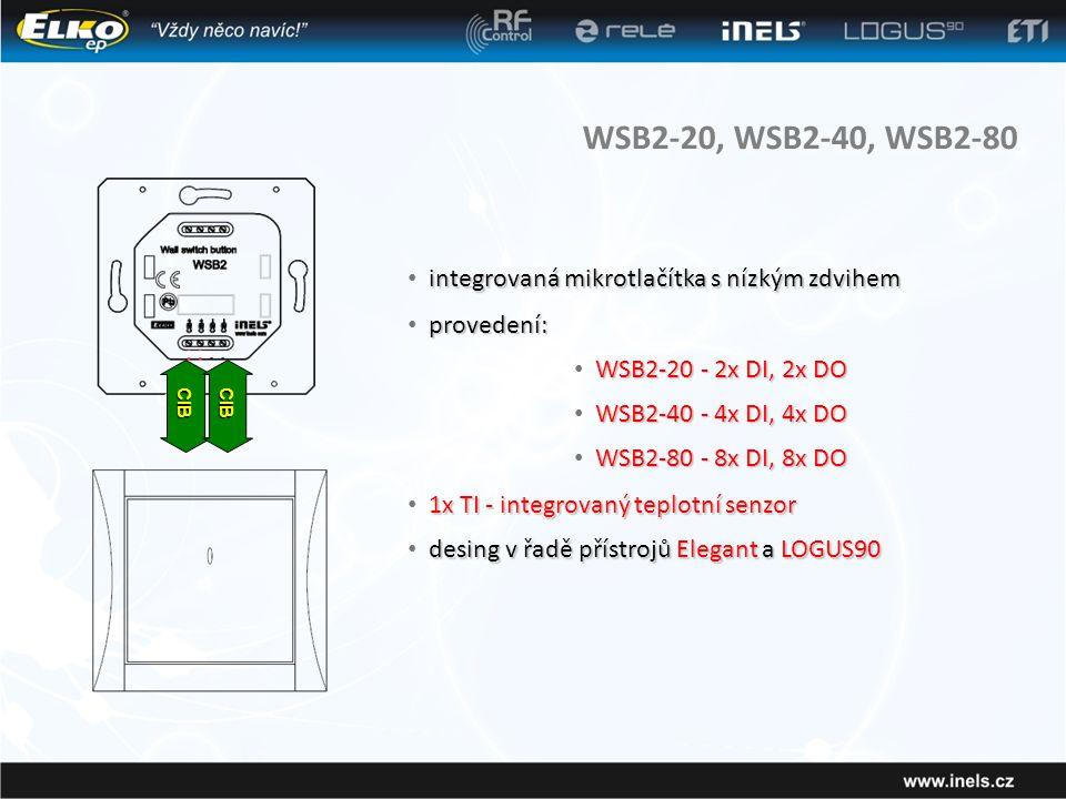 WSB2-20, WSB2-40, WSB2-80 integrovaná mikrotlačítka s nízkým zdvihem