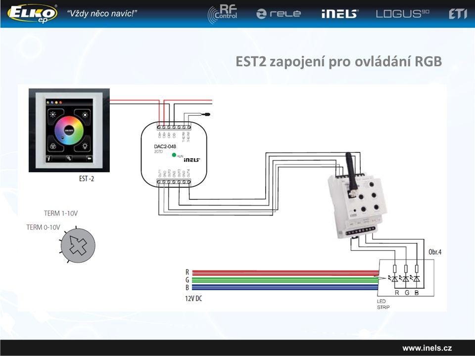 EST2 zapojení pro ovládání RGB