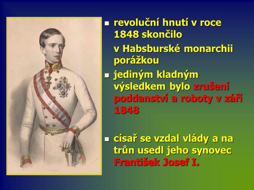 revoluční hnutí v roce 1848 skončilo