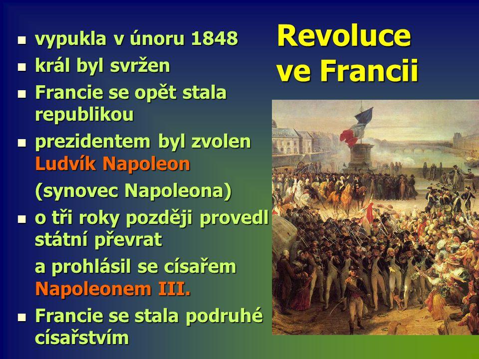 Revoluce ve Francii vypukla v únoru 1848 král byl svržen