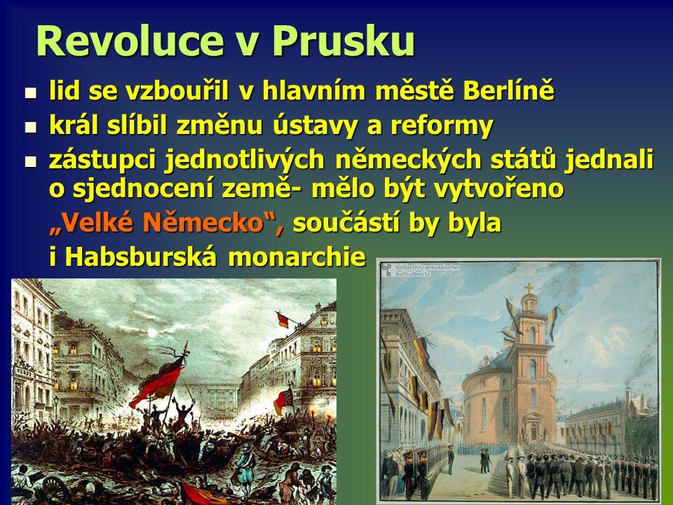 Revoluce v Prusku lid se vzbouřil v hlavním městě Berlíně