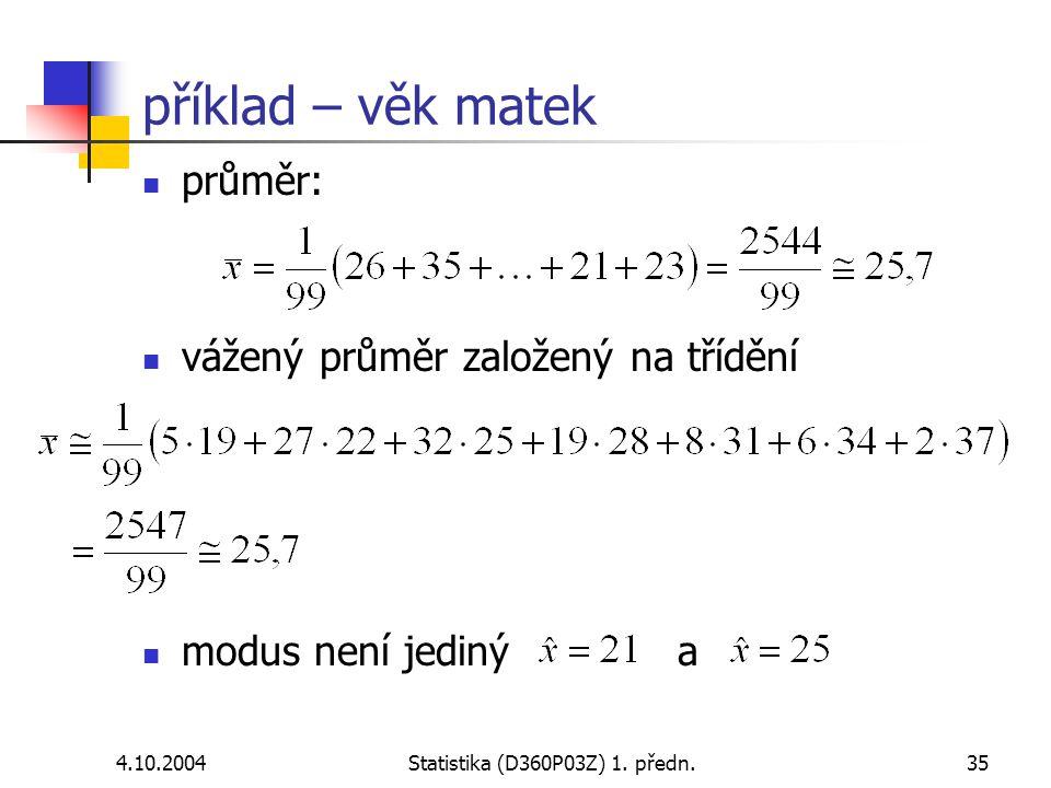 Statistika (D360P03Z) 1. předn.