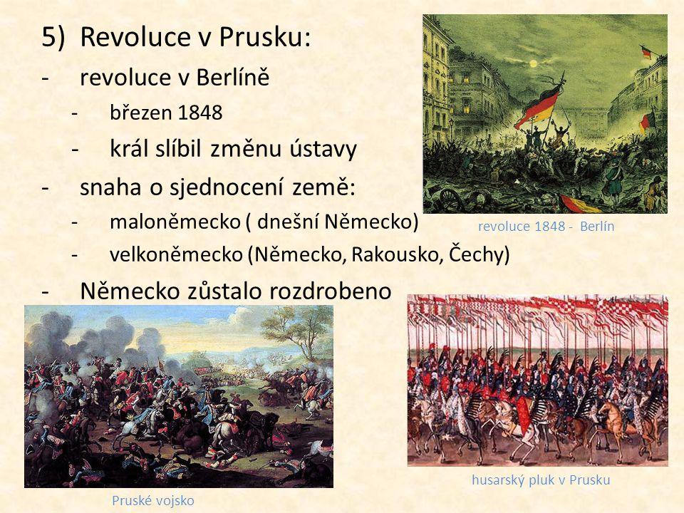 Revoluce v Prusku: revoluce v Berlíně král slíbil změnu ústavy