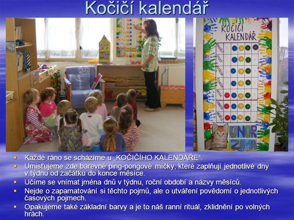 """Kočičí kalendář Každé ráno se scházíme u """"KOČIČÍHO KALENDÁŘE ."""