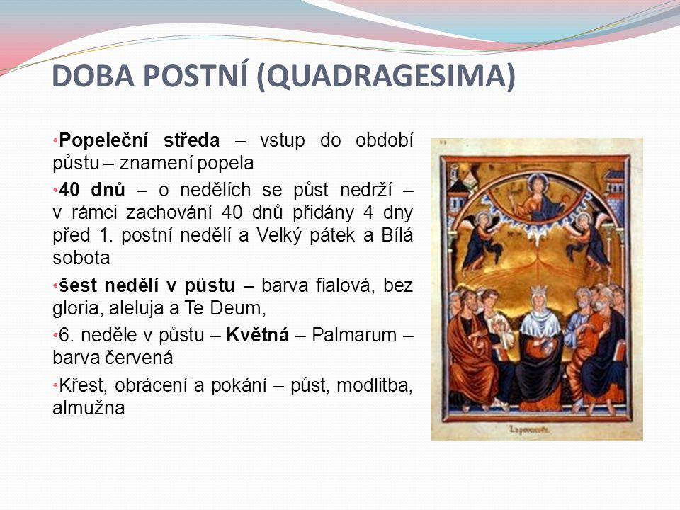 Doba postní (quadragesima)