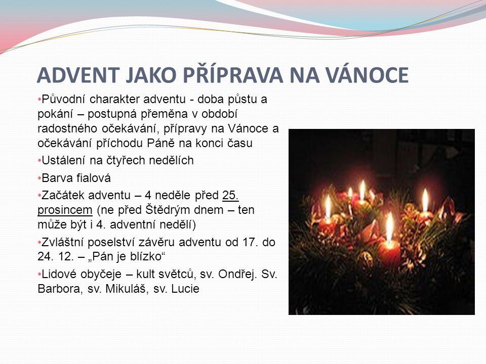 Advent jako příprava na Vánoce