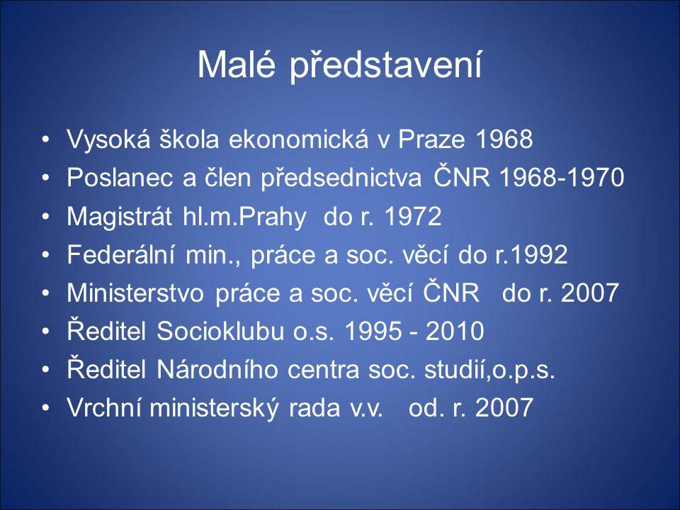 Malé představení Vysoká škola ekonomická v Praze 1968
