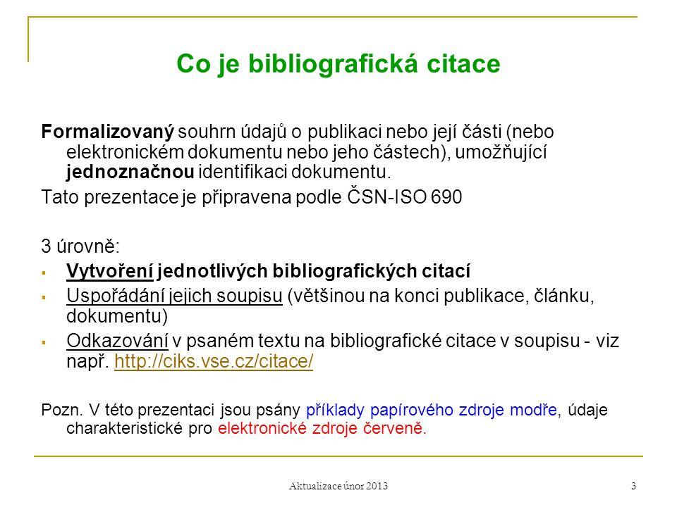 Co je bibliografická citace