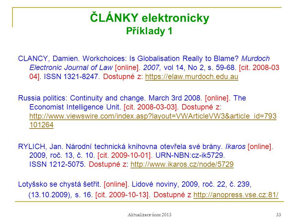 ČLÁNKY elektronicky Příklady 1