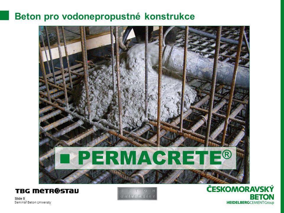 Beton pro vodonepropustné konstrukce