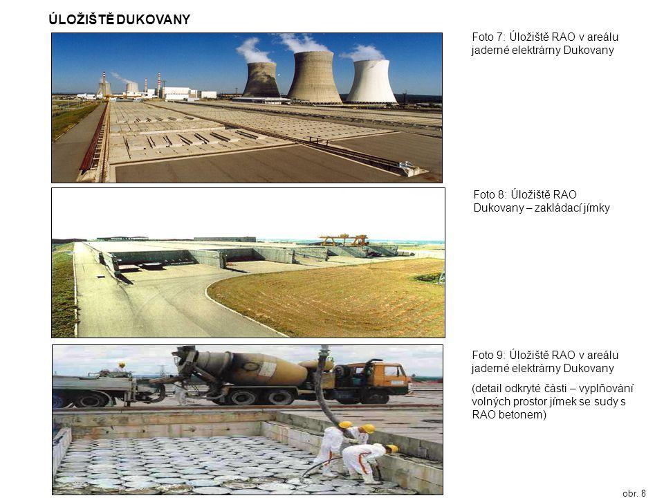 ÚLOŽIŠTĚ DUKOVANY Foto 7: Úložiště RAO v areálu jaderné elektrárny Dukovany. Foto 8: Úložiště RAO Dukovany – zakládací jímky.