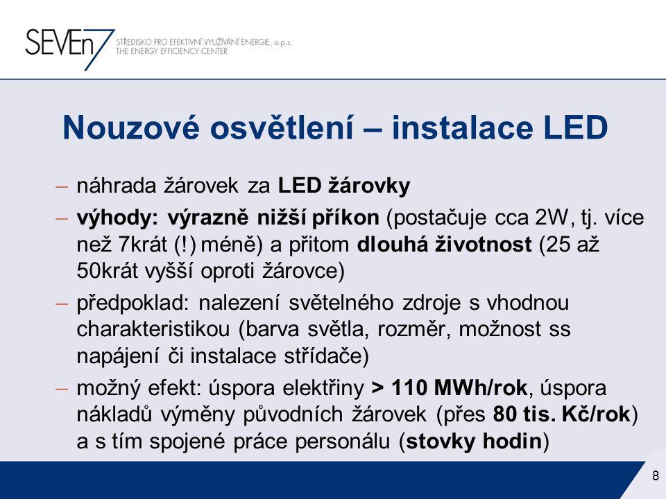 Nouzové osvětlení – instalace LED
