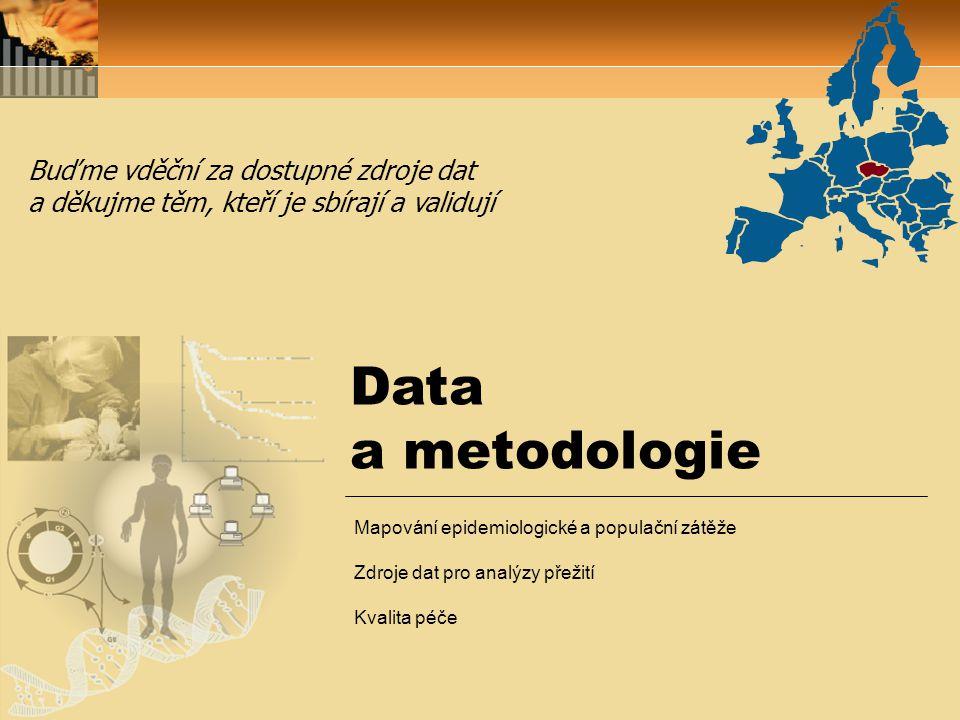 Data a metodologie Buďme vděční za dostupné zdroje dat