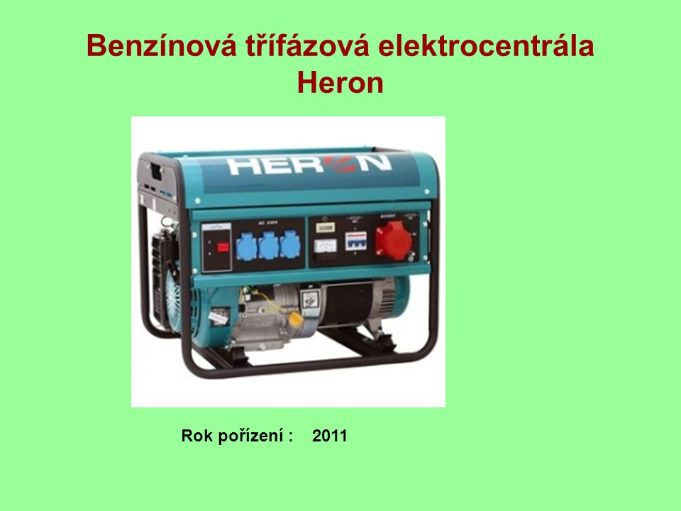 Benzínová třífázová elektrocentrála Heron