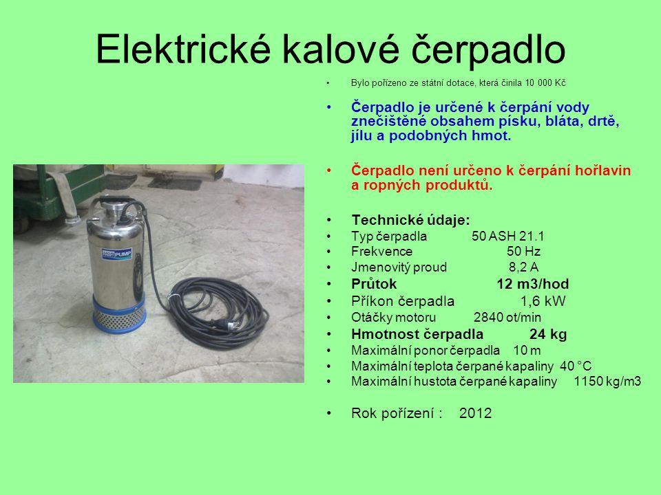 Elektrické kalové čerpadlo