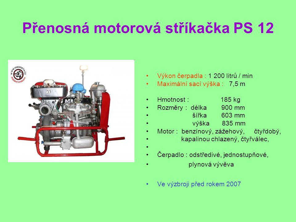 Přenosná motorová stříkačka PS 12