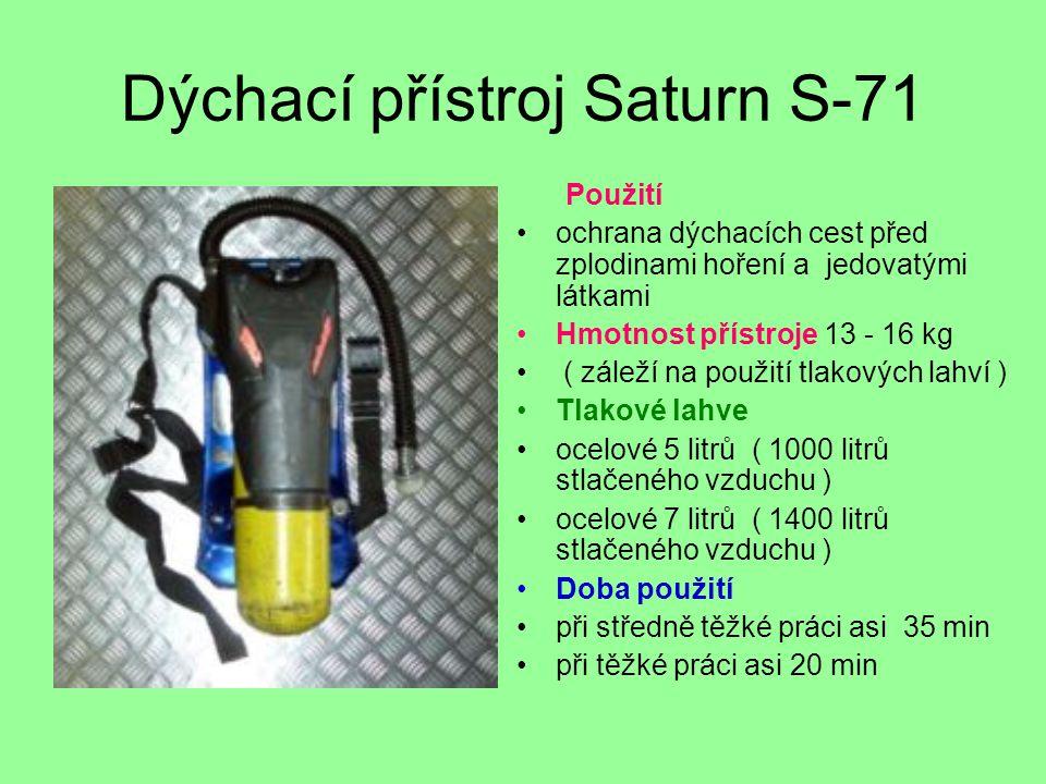 Dýchací přístroj Saturn S-71