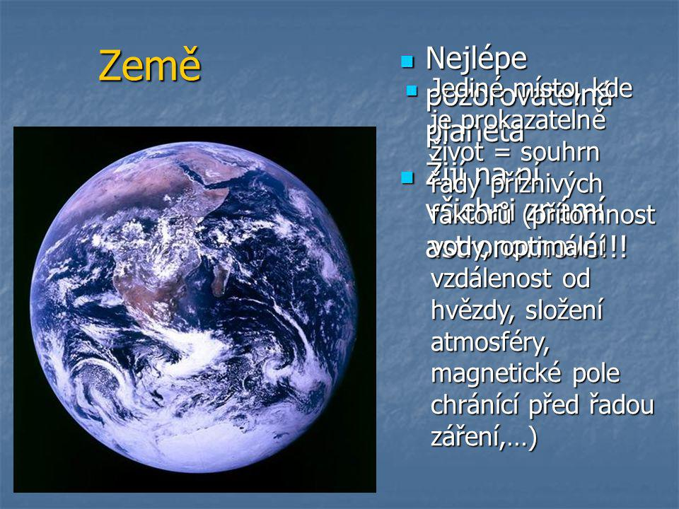 Země Nejlépe pozorovatelná planeta