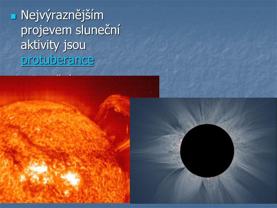 Nejvýraznějším projevem sluneční aktivity jsou protuberance