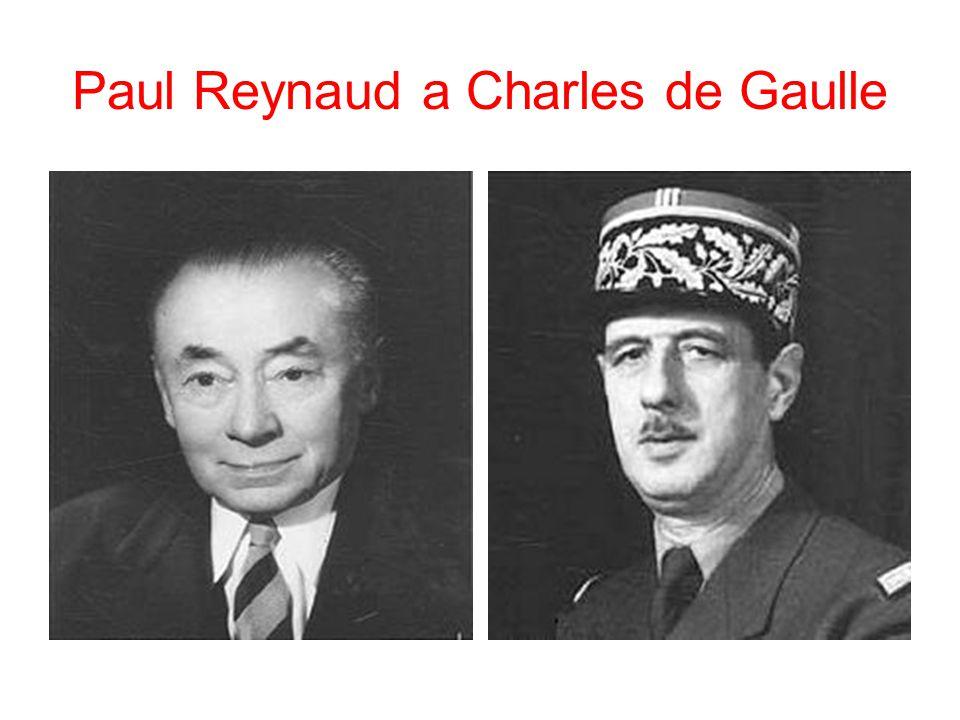 Paul Reynaud a Charles de Gaulle