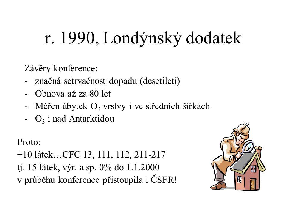 r. 1990, Londýnský dodatek Závěry konference: