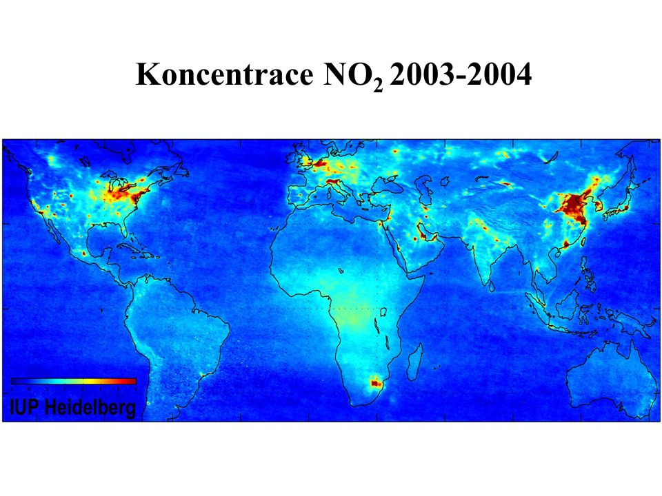 Koncentrace NO2 2003-2004