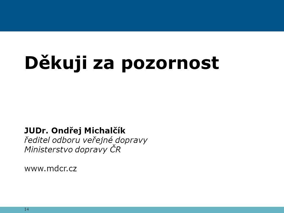 Děkuji za pozornost JUDr. Ondřej Michalčík