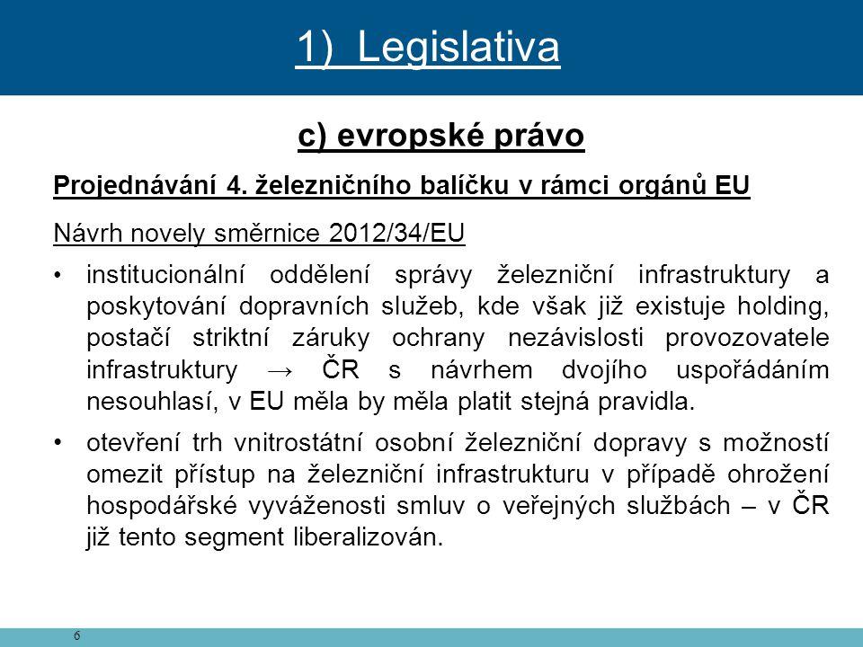 1) Legislativa c) evropské právo