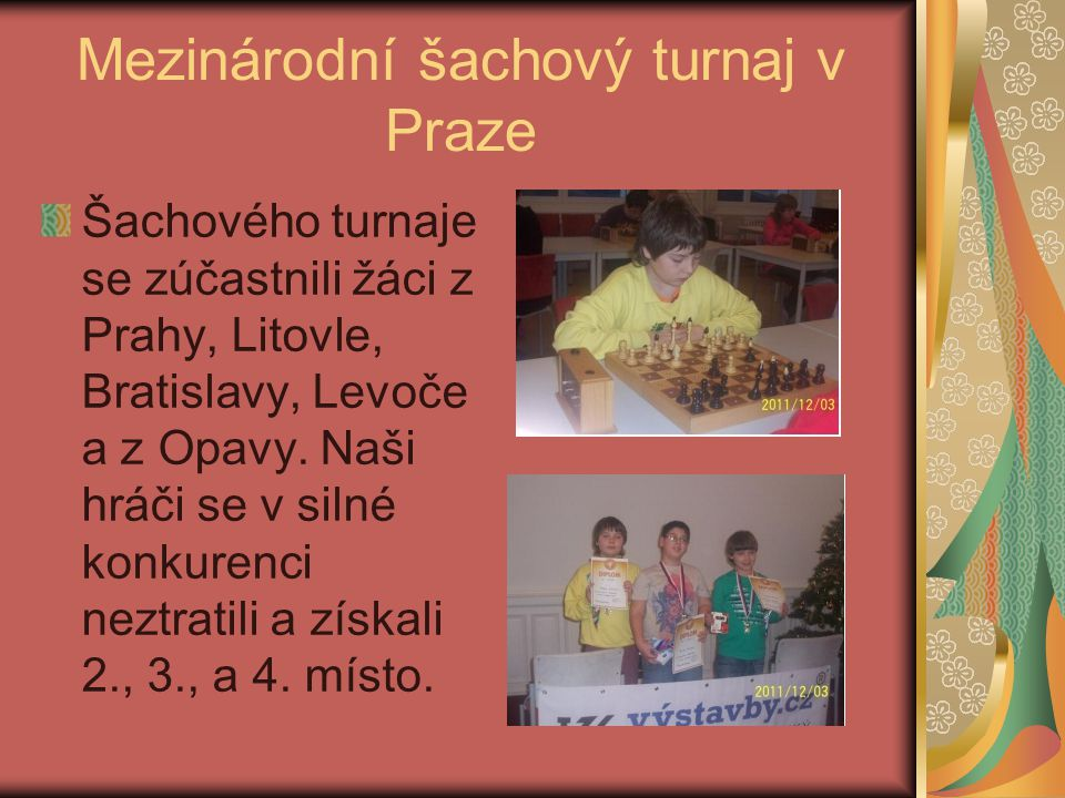 Mezinárodní šachový turnaj v Praze