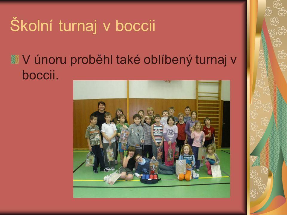 Školní turnaj v boccii V únoru proběhl také oblíbený turnaj v boccii.