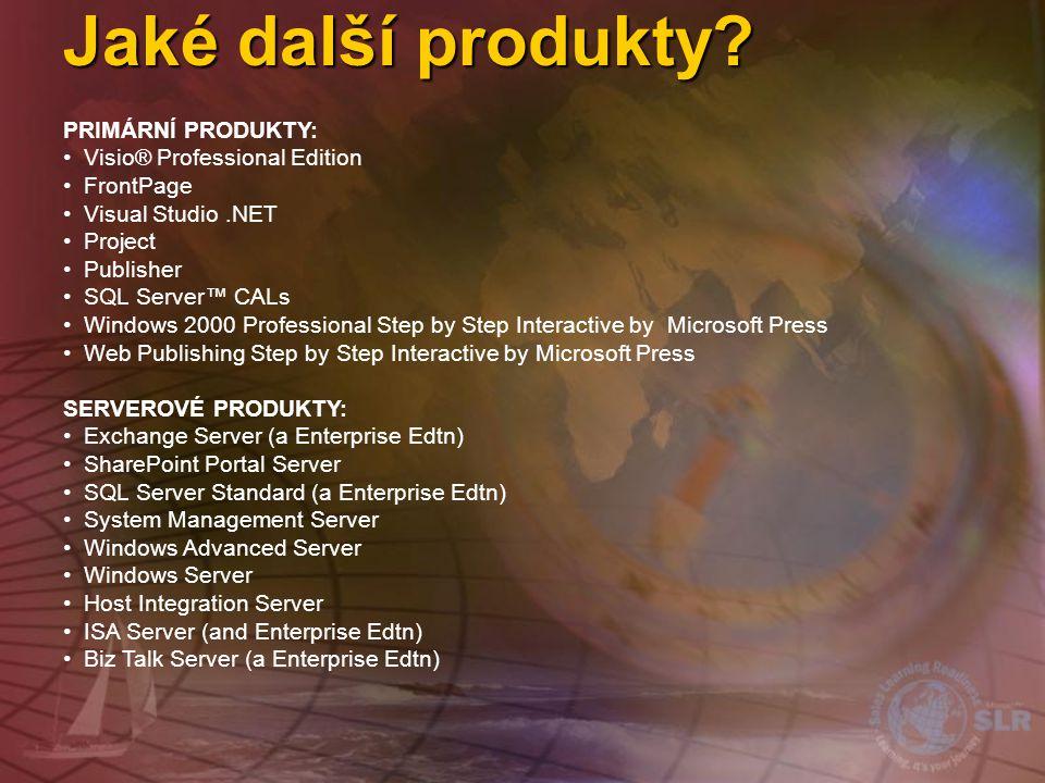 Jaké další produkty PRIMÁRNÍ PRODUKTY: Visio® Professional Edition