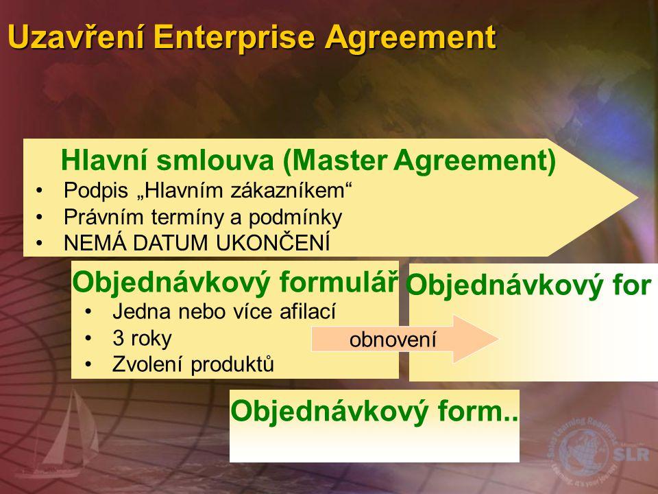 Uzavření Enterprise Agreement